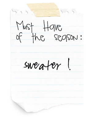 sweater post it
