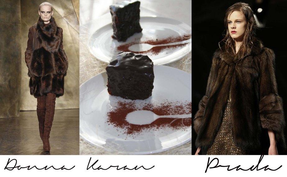 Fashion Vs Food: Sacher Choccolate Cake Vs Prada and DonnaKaran