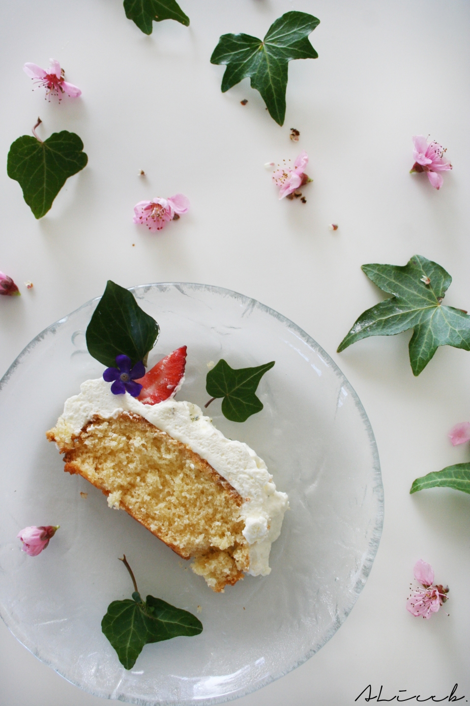 Fashion Vs Food: Easter Almond Cake with Mascarpone Cream Topping Vs Chanel