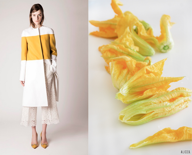 Fashion Vs Food: Zucchini Flowers Vs Rochas SS15