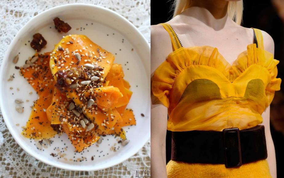 Fashion Vs Food: Pumkin Salad Vs RochasFw15
