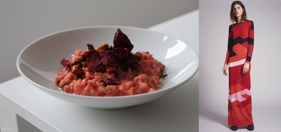 Fashion VS Food: Red TurnipRisotto