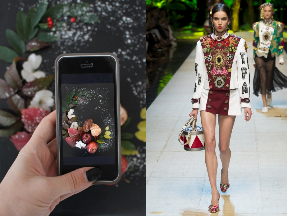 Fashion vs Food:  Mushrooms meringues Vs Dolce & Gabbana
